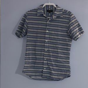 Stripped button up NWOT
